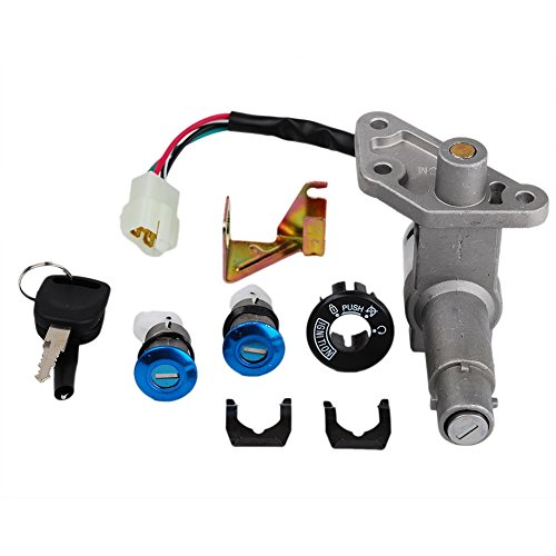 HIFROM Ignition Switch Key Set for GY6 4-Stroke 150CC Chinese Scooter Moped Fit for Tank Racer - 7 Deluxe 7A Roketa MC-03-150