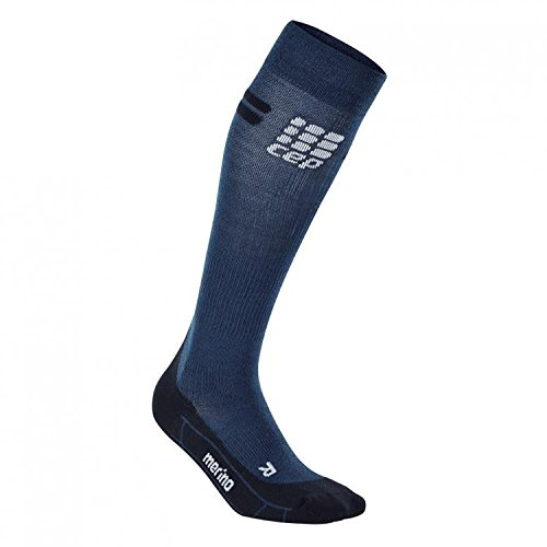 CEP Women's Progressive+Run Merino Socks, Navy/Black, Size IV