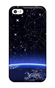 Flexible Tpu Back Case Cover For Iphone 4/4s - Space Art