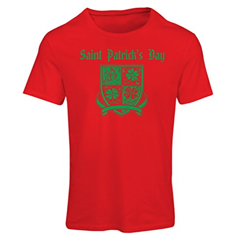 T shirts for women Saint Patrick's day Shamrock symbol - Irish party time (XX-Large Red Multi Color)