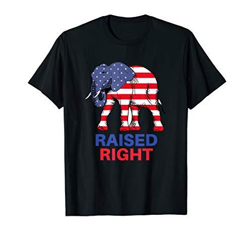 Raised Right Republican Elephant T-Shirt