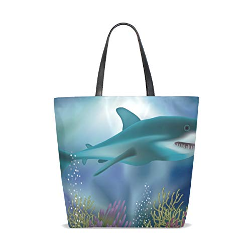 Femme À Unique Sac Underwater Taille Pour 001 Shark Bennigiry White With Porter Wallpaper Tote L'épaule xICqHH