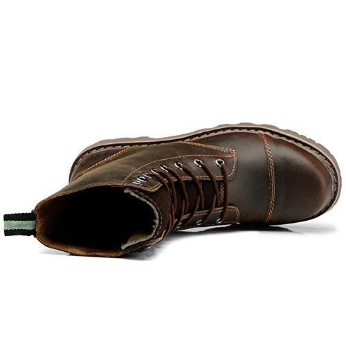 Scarpe casual maschile vestito alpinismo [autunno e inverno] all'aperto [fondo morbido] stivali slip on marrone-nero-marrone Lunghezza piede=43EU
