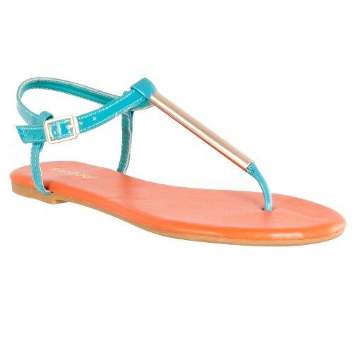 Sandalo In Pelle Macalen Di Bambù Per Donna