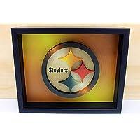 Metalic Pittsburgh Steelers NFL 3D Logo. Football. Heinz Field. Steelers Nation. Sports Memorabilia. Stars, Pop-up Art, Ben Roethlisberger, Superbowl