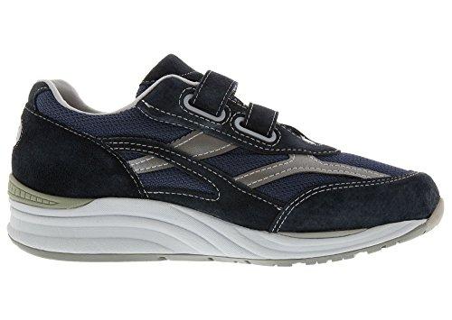 Sas Heren, Reis Mesh Slip Op Wandelschoenen Sneakers Blauw Grijs 7 M