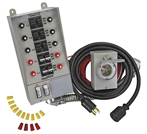 - Reliance Controls Corporation 31410CRK 30 Amp 10-Circuit Pro/Tran Transfer Switch Kit for Generators Up to 7,500 Running Watts