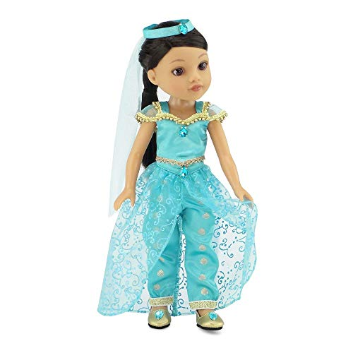 Princess Jasmine Inspired Outfit (Emily Rose 14 Inch Doll Clothes   Stunning 4 Piece Jeweled Princess Dress Jasmine Inspired Outfit, Including Shoes!   Fits 14