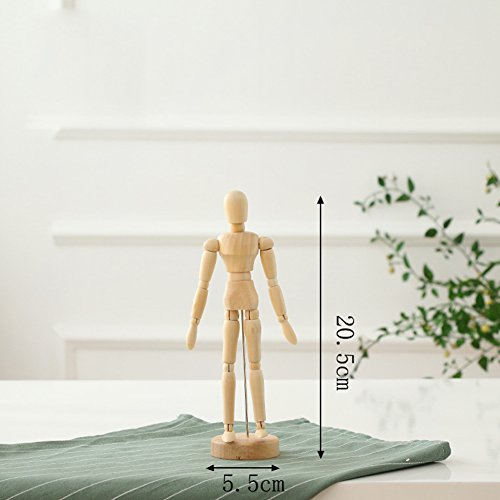 3d Human Figure - Ocamo Wooden Artist Movable Tips Wooden Male Action Figure Model Mannequin BJD Art Sketch Draw Action Figure Toy for Home Desk Decor