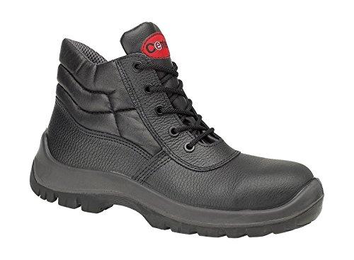... Centek FS30c Mens Safety Boots Leather PU Lace Up Black UK 7 8 9 10 11