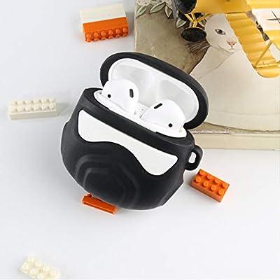 Airpods Case - Juego De Auriculares Inalámbricos Bluetooth De 1/2 Generación, Estuche De Carga Universal De Silicona, Todo Incluido, Anticaída, No Gris, Carcasa Suave, 1/2 Generación, Negro: Amazon.es: Electrónica