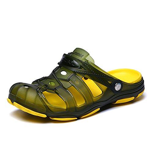 La Pantoufles B À Piscine Jardin Pour De Hommes Maison Hommes Sitaile Antidérapante Pour Intérieure Bain Confortable La Le Extérieure Chaussures D'été De Mules D'été Et À Plage Sabots Sandales vert Les La q6AHUt