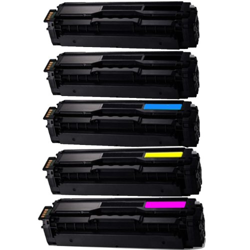 Shop 247 Compatible Toner Cartridge Replacement for Samsung CLT-K504S,CLT-C504S,CLT-Y504S,CLT-M504S compatible toner replacement for Xpress SL-C1860FW/C1810W,CLX-4195FN/4195FW,CLP-415NW(5 pk)