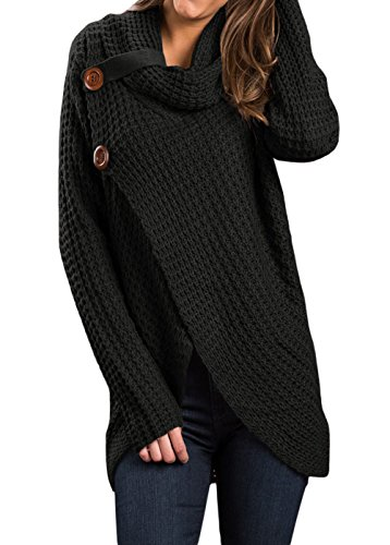 oversized cowl neck pullover - 2
