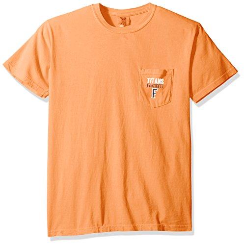 Image One NCAA Cal State Fullerton Titans Baseball Frame Short Sleeve Pocket T-Shirt, - Pocket Titan Shirt