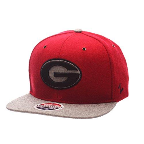 Zephyr NCAA Georgia Bulldogs Adult Men's Executive Snapback Hat, Adjustable Size, Team Color/Gray