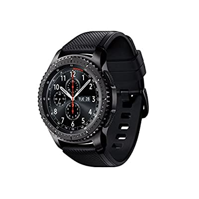 Samsung - Gear S3 Frontier Smartwatch 46mm - T-Mobile 4G LTE Version, Dark Grey SM-R765T