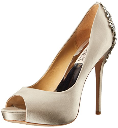 (Badgley Mischka Women's Kiara Pump, Silver, 6.5 M US)