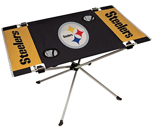 NFL Portable Folding Endzone Table, 31.5 in x 20.7 in x 19 in, Pittsburgh Steelers