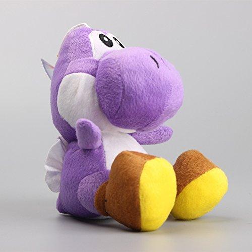 Super Mario Bros Yoshi Sitting Dragon 6 Inch Toddler Stuffed Plush Kids Toys - Luigi Purple