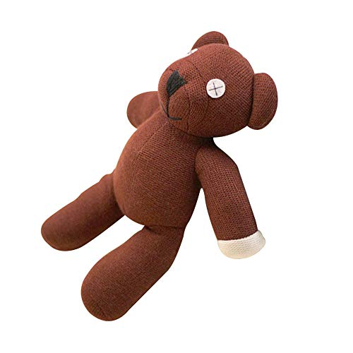 Plush Bean Mr Bear Teddy (23cm Height Mr Bean Teddy Bear Animal Stuffed Plush Toy for Children Gift Brown Color)