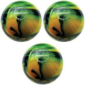EPCO-Duckpin-Bowling-Ball-3-Paramount-Glow-Yellow-Black-Balls