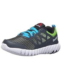 Reebok Kids Twistform Blaze 2.0 Fade Running Shoe, Nocturnal Blue Grey/Black/Semi Solar Green, 5.5 M US Big Kid