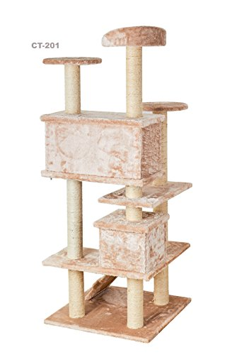 Qpets easy to assemble cat tree with step by step for Cat tree steps