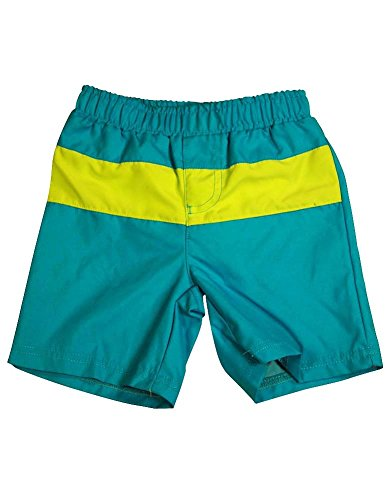 Bunz Kidz - Little Boys Swimsuit, Dark Turquoise, Lime 35013-2T