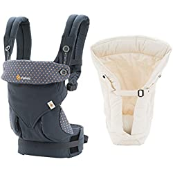 5552aed504e Ergobaby Bundle - 2 Items  360 Dusty Blue Baby Carrier and Original Natural  Infant Insert