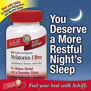 Amazon.com : Schiff Melatonin Ultra Sleep Support, 300 Tablets each (pack of 2) by SCHIFF : Baby