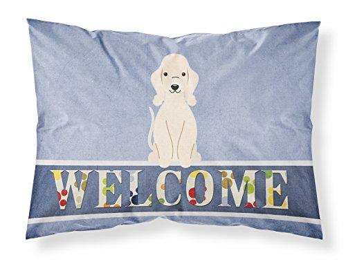 Caroline's Treasures BB5672PILLOWCASE Bedlington Terrier Sandy Welcome Pillowcase, Standard, Multicolor