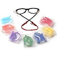 Douper Anti-slip Eyeglass Strap & Ear Lock Hook Kit for Kids Toddlers Soft Silica Gel Material (6 Colors for Girls)
