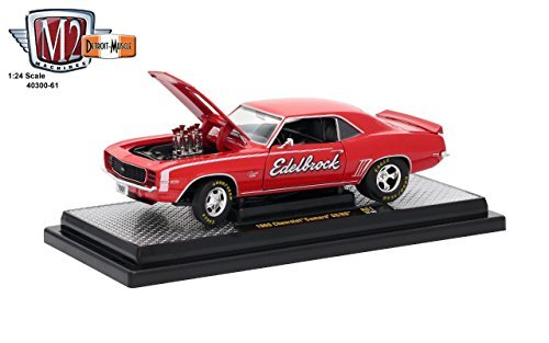 M2 Machines 1:24 Release 61B 1969 Chevrolet Camaro SS/RS Edelbrock Diecast Vehicle, Red from M2 Machines