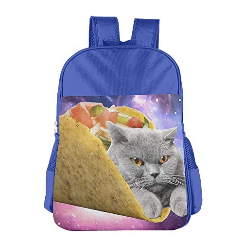 Cat With Tato Children School Backpack Carry Bag For Teens Boy Girl