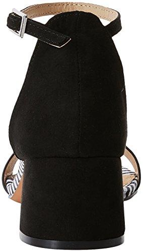 Maria Ouvert Bout Negro Negroafelpado Noir Mare Sandales Vichy Auria Femme ZqrSZ6w