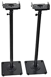 "Videosecu 2 Heavy Duty Pa Dj Club Adjustable Height Satellite Speaker Stand Mount - Extends 26.5"" To 47"" (I.e. Bose, Harmon Kardon, Polk, Jbl, Kef, Klipsch, Sony, Yamaha, Pioneer & Others) 1b7"