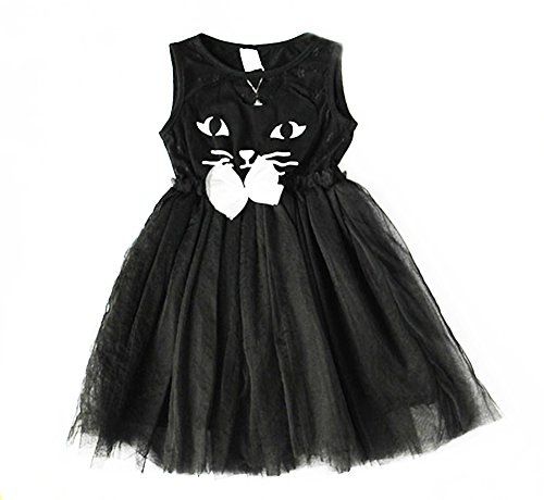 [CRB Girls Cat Toddler Costume Party Special Occasion Birthday Dress (18 Months, Black) ...] (Unique Toddler Girl Costumes)