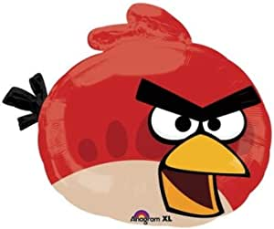 Anagram Angry Birds Red Bird Foil Balloon - 23 x 20 inch, Red