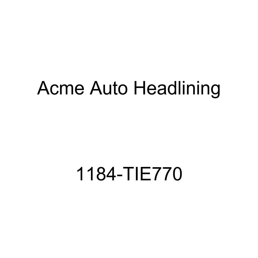 1958 Buick Special 2 Door Riviera Hardtop 8 Bows Acme Auto Headlining 1184-TIE770 Black Replacement Headliner