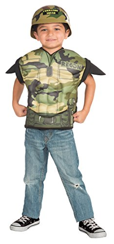 Army Combat Muscle Chest Dress-Up Shirt Set