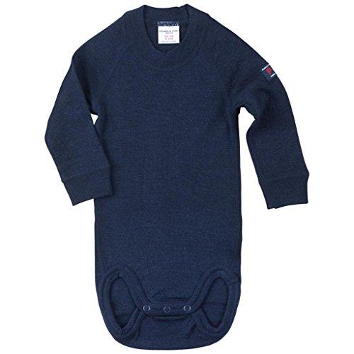 Polarn O. Pyret Merino Wool Bodysuit (Newborn) - Dark Sapphire/0-2 Months