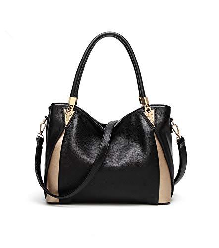 3e0cad234738 Amazon.com  Montmo Women Soft Leather Handbags Casual Simple Hobo Style  Shoulder Bags Tote Cross Body Purses (Black-1)  Shoes