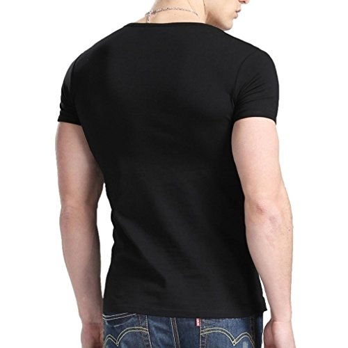 Xudian short sleeves men t shirt crew neck us size small for Large shirt neck size