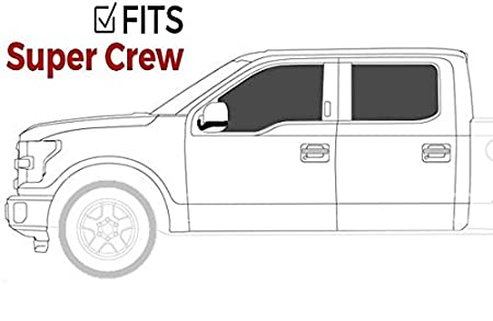 Fits Ionic 5 Black Steel Oval Nerf Bars 413809B 2009-2014 Ford F150 SuperCrew Only Truck Side Steps