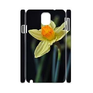 3D Samsung Galaxy Note 3 Cases, Kawaii Yellow Flower 4 Cases for Samsung Galaxy Note 3 {White}