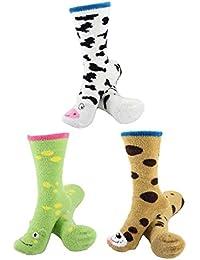 Socks - Super Soft Warm Cute Animal Non-Slip Fuzzy Crew Winter Socks