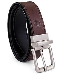 Timberland - Cinturón de piel para hombre, reversible, de color café a negro
