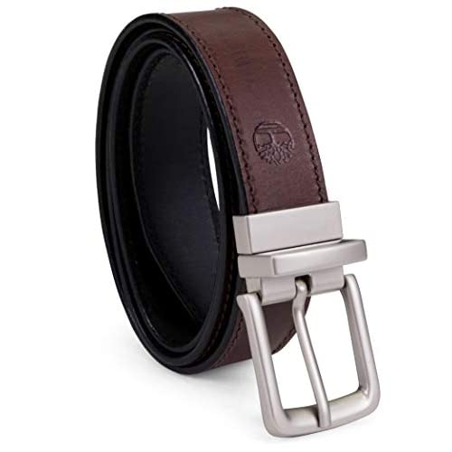 Trinity Style for Jeans Khakis Dress Leather Strap Silver Prong Buckle Belt Columbia Mens Casual Leather Belt