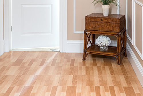 Achim Home Furnishings VFP2.03M10 3-Foot by 6-Inch Tivoli II Vinyl Floor Planks, Maple, 10-Pack